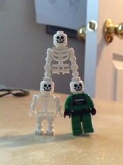 Skelestilts (splinky9000) Tags: kingston ontario lego toys minifigures skeletons stilts awing pilot star wars