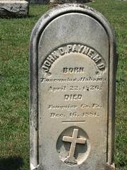 Private John D. Payne Co A, 4th Virginia Blackhorse Cavalry (Art_Reid) Tags: cemetery warrentoncemetery grave gravestone graveyard tombstone headstone monument memorial virginia confederate civilwar