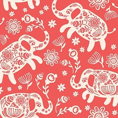 Pachyderms & posies, my entriey in the Paper cut design challenge.  https://www.spoonflower.com/designs/6308357-pachyderms-posies-big-by-pinkowlet  #elephants #spoonflower #designchallenge #pinkowlet (buzzygirl) Tags: pinkowlet floral elephant fabricdesign patterndesign spoonflower instagramapp square squareformat iphoneography