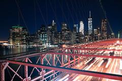 From Brooklyn... (Bruno Bastin) Tags: brooklyn newyork brunobastin nikond750 perspective bynight nyc newyorkcity longexposure brooklynbridge