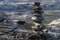Au bord du torrent (Larch) Tags: torrent legiffre giffre caillou stone cairn équilibre balance samoëns hautesavoie france printemps spring pierre water