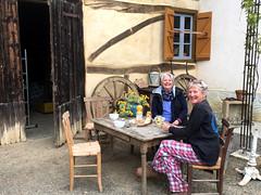 Breakfast in the Courtyard (RobW_) Tags: ritsa fida breakfast courtyard farmhouse bernadetsdebat hautespyrénées occitanie gascony france friday 07apr2017 april 2017