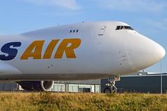 Atlas Air N855GT Boeing 747-87UF cn/37567-1476 @ Taxiway Q EHAM / AMS 16-10-2016 (Nabil Molinari Photography) Tags: atlas air n855gt boeing 74787uf cn375671476 taxiway q eham ams 16102016