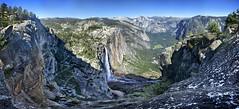 Upper Yosemite Falls and Trail from Eagle Tower - Yosemite (Bruce Lemons) Tags: yosemite yosemitenationalpark yosemitevalley california sierra sierranevada mountains hike backpacking hiking wilderness yosemitefalls waterfalls halfdome eagletower