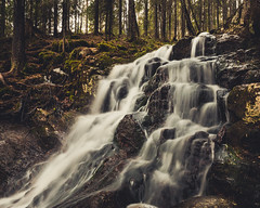 Waterfall (JH') Tags: water waterfall wideangel exposure rocks rock trees tree travel photoshoot photography sigma sweden spring d5300 forest highcoast landscape longexposure colors nikon nikond5300 nature naturephotograph mountain beautiful 2017