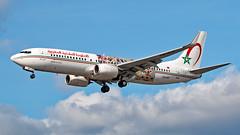 CN-RGF - Boeing 737-86N - LHR (Seán Noel O'Connell) Tags: royalairmaroc ram cnrgf boeing 73786n 737 738 heathrowairport lhr egll cmn gmmn 27r at800 ram800f wingsofafricanart