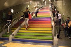365-110 (Letua) Tags: escalera multicolor buenos aires subte stairs rainbow subway