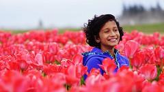 Smile (surer2) Tags: tulip flowers woodshoe oregon tulipfestival innocentsmile hapiness
