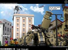 Dai Trailer 10 (messerneogeo) Tags: messerneogeo robot mech mecha lego daiseen iii trailer
