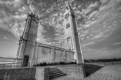 Montreal Clock Tower in black and white (cmfgu) Tags: montreal quebec canada oldmontreal montrealclocktower stlawrenceriver clocktowerquay hdr highdynamicrange oldport vieuxport bw blackandwhite monochrome craigfildesfineartamericacom fineartamericacom craigfildes artist artistic photographer photograph photo picture prints art wall canvasprint framedprint acrylicprint metalprint woodprint greetingcard throwpillow duvetcover totebag showercurtain phonecase sale sell buy purchase gift