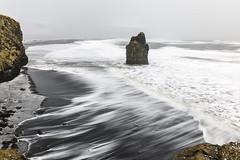 Stormy seas at Reynisfjara (Tony Balmforth) Tags: stormy seas reynisfjara winter basalt rock formations angry waves blustery day sea stack long exposure iceland hailstones tony balmforth