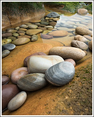 Clasach Cobbles (mistymornings99) Tags: rock beach moray refelections water calm pebbles cobbles cobblestones coast clasachcove rocks
