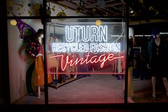 UTURN Recycled Fashion (daniel_james) Tags: 2017 canon6d canon1635mm kingstreet newtown innerwest sydney nsw australia neonsign newtownneon vintageclothing opshop secondhand fashion