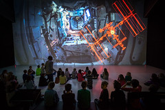 Inside the ISS (Ars Electronica) Tags: arselectronica arselectronicacenter linz austria upperaustria österreich museum art technologie society science kunst gesellschaft wissenschaft iss deepspace8k projections