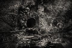It's lair (BW) (Ignacio Arráez) Tags: dark sinister oscuro cave cueva lair guarida lake lago olympusomdem10 olympus samyang12mmf2 samyang blancoynegro bn blackwhite bw gray gris virado