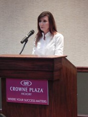 As Chair of the YMCA of Catawba Valley, Lori spoke at a Prayer Breakfast hosting UT Basketball Coach Rick Barnes.