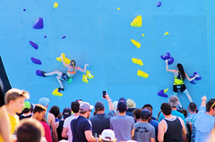 POP_8039 (Philip Osborne Photography) Tags: nationalwhitewatercenter charlotte nc tuckfest womensdeepwater rock climbers pro woman shorts sports bra athletic active ponytail falling kyracondie alexjohnson biminihorstman deepwatersolo climbing 2017