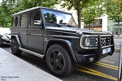 Mercedes G55 AMG (Monde-Auto Passion Photos) Tags: voiture vehicule auto automobile mercedes classe 4x4 noir mat hoche monceau sportive rare rareté france paris