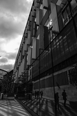 Architecture West End EPMG  (10 of 20) (Philip Gillespie) Tags: architecture edinburgh scotland mono buildings city sky spring form shape angles reflections clouds modern