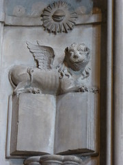 Lion of St Mark (Aidan McRae Thomson) Tags: worcester cathedral worcestershire sculpture carving relief