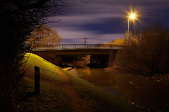 Edwards Bridge, Willenhall Lane, Bloxwich 04/03/2017 (Gary S. Crutchley) Tags: bloxwich wood lane canal flats uk great britain england united kingdom urban town townscape walsall walsallflickr walsallweb black country blackcountry staffordshire staffs west midlands westmidlands nikon d800 history heritage local night shot nightshot nightphoto nightphotograph image nightimage nightscape time after dark long exposure evening travel street slow shutter raw navigation cut inland waterway bcn narrowboat lock junction wyrley and essington canalscape scape