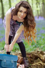 Untitled (sosij) Tags: england bluebells woodlands longhair curls hitchin bluebellwoods tattydevine satchell dipdyedhair sharoncooperphotography