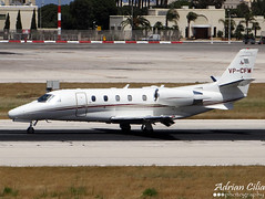 Private --- Cessna 560XL Citation Excel --- VP-CFM (Drinu C) Tags: plane aircraft sony dsc mla hx100v adrianciliaphotography
