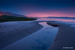 midnight on the milton mudflats (john&mairi) Tags: sea water night clyde glasgow estuary milton mudflats crannog erskinebridge dumbuck