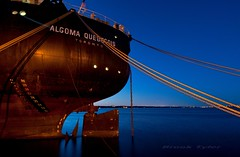 Algoma Quebecois (Thankful!) Tags: reflection evening harbor still ship harbour dusk calm bluehour hfg hamiltonharbour algomaquebecois