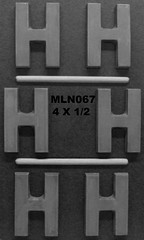 MLN067 (Chocolate Concepts) Tags: chocolate letters number h numbers letter mold