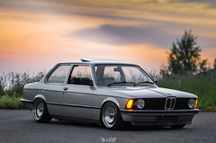 The E21. (Micheal Evans) Tags: 3 classic car nikon ride air low line german bmw series bags th schmidts offset stance dumped 316 85mmf14 e21 fitment samyang hellaflush d7000 stanceworks
