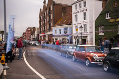 mini blur 39 (Mark Rigler UK) Tags: england motion blur car mini quay dorset hoy portsmouth poole