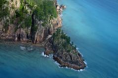 Rock and pine (Roving I) Tags: rocks australia aerial whitsundays points queensland headlands pinetrees haymanisland