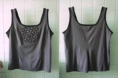flower of life tank completed (M lambie) Tags: tank top sewing applique handstitched garments reverseapplique refashion 6pac june2013 summer20136pac