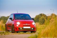 Fiat 500 Abarth photoshoot (Rmy   www.chtiphotocar.com) Tags: red black car photo nikon photoshoot fiat sigma ferrari shooting 500 rims rosso scuderia sportscar officina cinquecento lightroom abarth revival tributo tjet worldcars