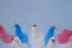 Red Arrows (Bernie Condon) Tags: tattoo plane flying hawk aircraft aviation reds bae trainer redarrows raf fairford riat airtattoo rafat 2013