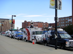 Boston media news vans (quiggyt4) Tags: boston skyline architecture publicspace buildings ma suffolk cityscape waterfront massachusetts wharf esplanade promenade hotels development trial southboston fortpointchannel beantown southie roweswharf bulger adaptivereuse ronpaul suffolkcounty ows wbz occupy atlanticwharf whdh wcvb necn whiteybulger moakleycourthouse planetizen suffolkcountyma fanpierplaza occupywallstreet bostonstrong