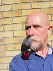 (treeman973) Tags: smoke pipe bald shavedhead baldguy pipesmoker