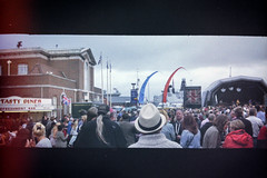 Victorious Vintage Festival - Portsmouth - Summer 2013 (old_skool_paul) Tags: ocean city uk sea summer people panorama music holiday colour beautiful june festival 35mm vintage point boats tickets island photography amazing lomo lomography media shoot artist sailing moody skateboarding live jubilee south ships sunday crowd navy may royal july saturday style bank august victory scan historic lightleak southern negative 200 solent confused portsmouth sail strong series shipping leak refreshing ilford halina dazed 2012 panaoramic hms dockyard victorious hmswarrior 2013 tumblr