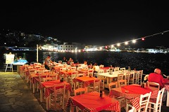 Dinner with view! (sifis) Tags: landscape town vilage greece cyclades mykonos night out beach view life art style sumer island nikon d700 sakalak σακαλακ 270