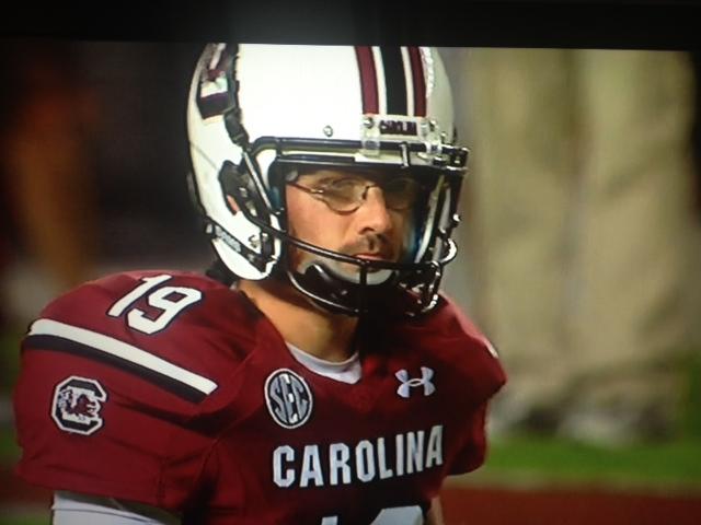 c31c0ee0302 South Carolina kicker Landon Ard was wearing the least football-ish  eyeglasses ...