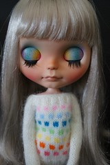 This rainbow sweater by Annie was made for Moonrise !!