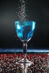 (DigitalCanvas72) Tags: water crystals dof nikond70 bluewater flashphotography fooddye nikonsb600 liquorglass nikonsb700 nikkor85mm18g sugarcyrstals feezemotion
