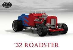 Linotopia - Ford V8 Roadster Hotrod (lego911) Tags: auto birthday usa classic ford car america 1932 vintage model lego anniversary render machine hotrod rod modified 72 32 challenge lino v8 cad lugnuts roadster povray moc ldd miniland foitsop lego911 linotopia lugnuts6thanniversary