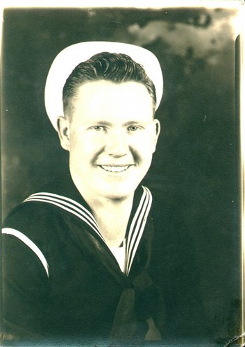 William Delvie Copeland in his Navy uniform, early 1940s.