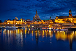 Spät am Abend in Dresden