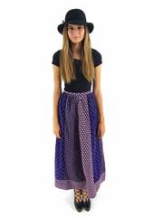 Vintage 70s Floral Corduroy Maxi Skirt (giselaandzoe) Tags: vintage outfit 70s hippie etsy boho syle vintage70s giselaandzoe