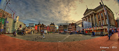 Grote Markt,Panorama,Groningen stad,the Netherlands,Europe (Aheroy) Tags: grotemarkt panorama tonemapped town singlerawhdr stad street surreal nederland netherlands fisheye fun groningen hallucination holland city beautifulgroningen aheroy aheroyal architecture art canonef815mmf4lfisheye dutch different colours europe clouds パノラマ
