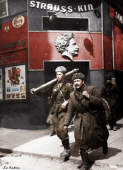 Soviet soldiers in Vienna 1945 (Za Rodinu) Tags: world 2 man men history vintage soldier war gun russia military rifle rifles front german weapon ww2 soldiers historical guns 1942 1945 rare troops 1944 1943