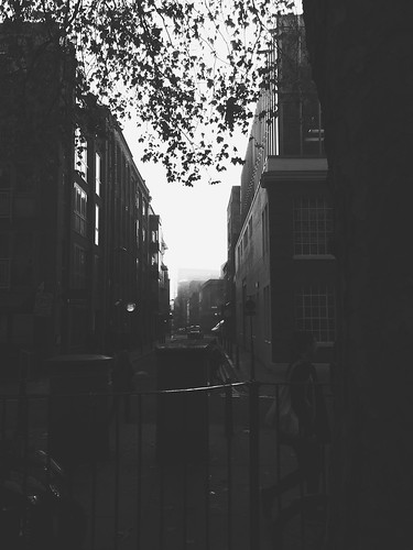 Foggy Hoxton Square - London